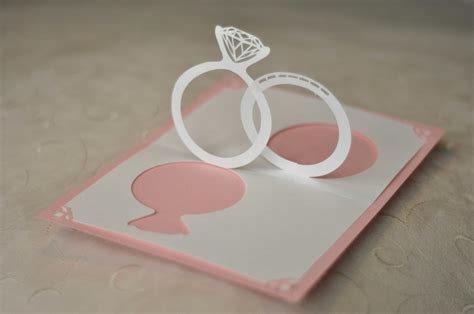wedding ring pop up card template make your wedding invitations pop with 3d effect arabia