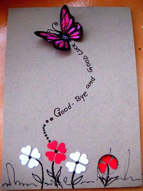 Handmade Farewell Cards - handmade birthday greetings for goodbye and