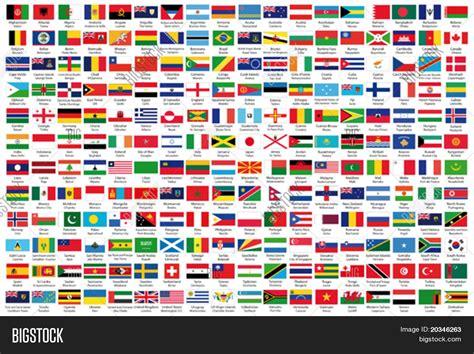 flags of the world countries printable with names image vectorielle et photo de 216 drapeaux bigstock