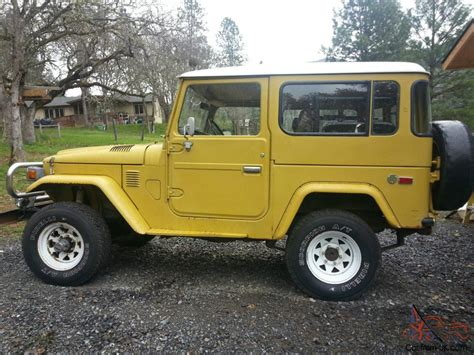 original land cruiser original clean 1977 toyota fj40 land cruiser no reserve