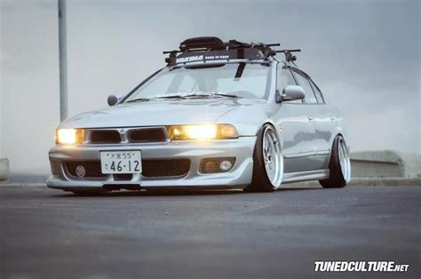 stanced mitsubishi galant jdm galant with stance something you don t see every