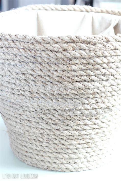 How To Make A Rope Hanging Basket - diy metallic rope throw basket tutorial lydi out loud