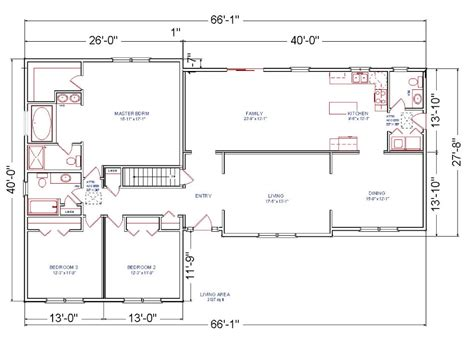 ranch addition floor plans brentwood modular ranch house