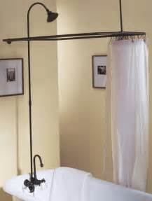 leg tub shower enclosure set rubbed bronze