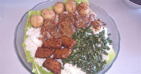 resep nasi campur ala rumahan enak  sederhana