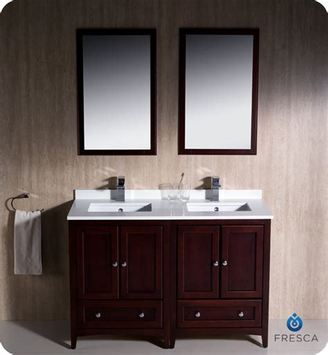 2 Sink Bathroom Vanity Fresca Oxford 48 Quot Sink Bathroom Vanity Mahogany Finish