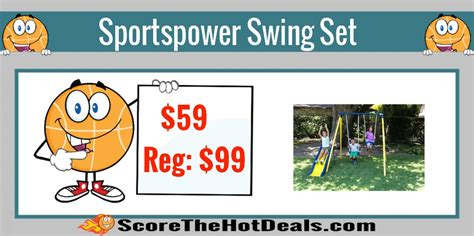 swing science store sportspower swing set only 59 reg 99 score the