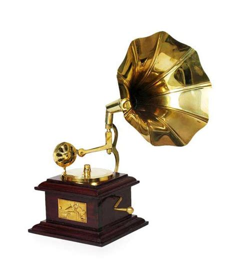 online purchase home decor items home sparkle brass square gramophone small buy home