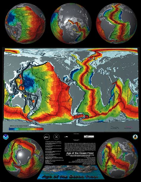 Investigating Seafloors And Oceans 1 age of the floor poster ncei