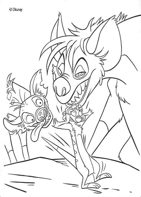 lion king hyenas coloring pages hyenas and timon coloring pages hellokids com