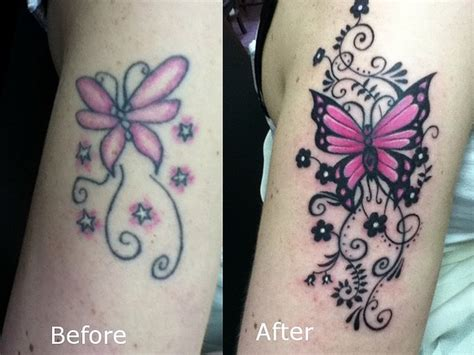 ankle tattoo cover up designs butterfly coverup touch up cover up