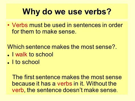 why should verbs be used in writing a resume verbs starter activity ppt