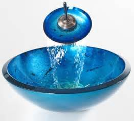 kraus c gv 204 19mm 10 galaxy blue 19mm glass vessel sink