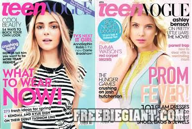 Vogue Magazine Sweepstakes - free 2 year teen vogue magazine subscription freebie giant get free stuff online