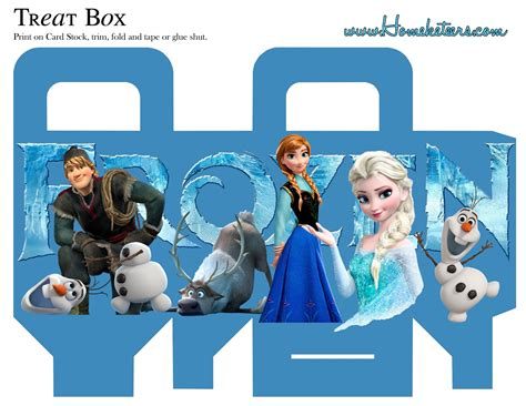 frozen free printable boxes is it for parties is it