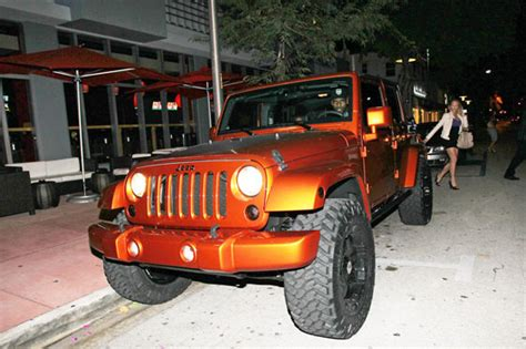 lebron jeep lebron orange jeep wrangler carz