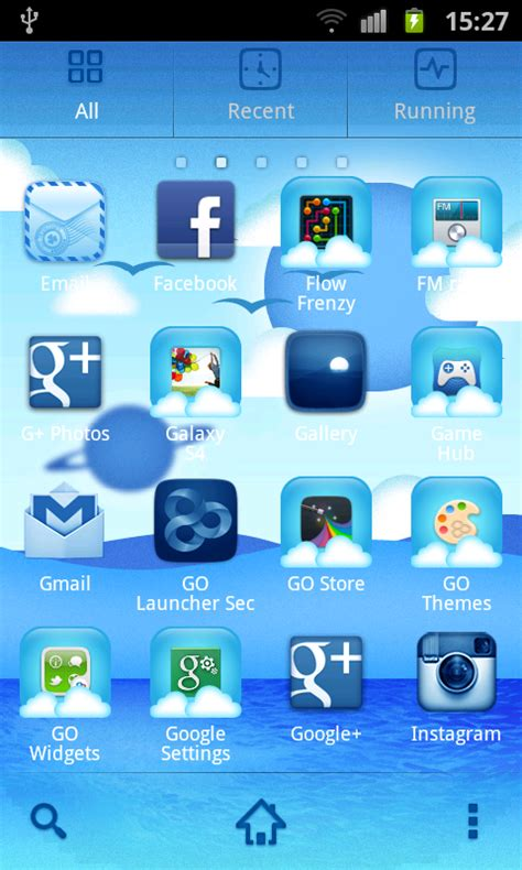 go launcher themes cool cool blue theme go launcher free apk android app android