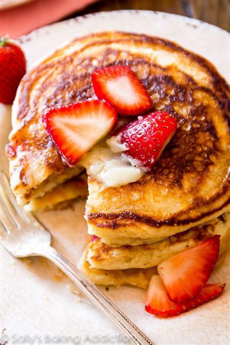 strawberry buttermilk pancakes  honey butter sallys baking addiction
