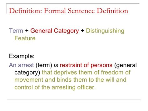 sentence pattern definition exles creating a formal sentence definition