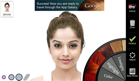 simulate hair color hair color change app