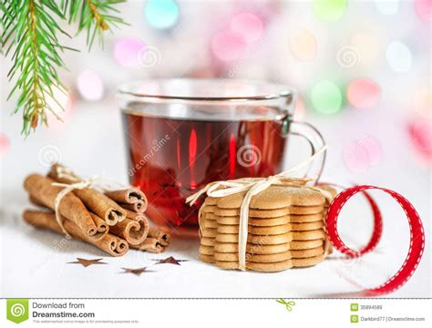 How To Decorate A Christmas Tree Christmas Tea And Cookies Stock Image Image Of Cinnamon