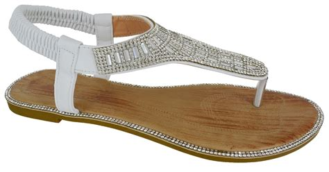 dressy flat sandals for wedding womens flat diamante wedding toe post dressy