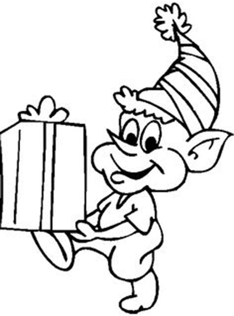 coloring page elf with present printables on pinterest christmas coloring pages recipe