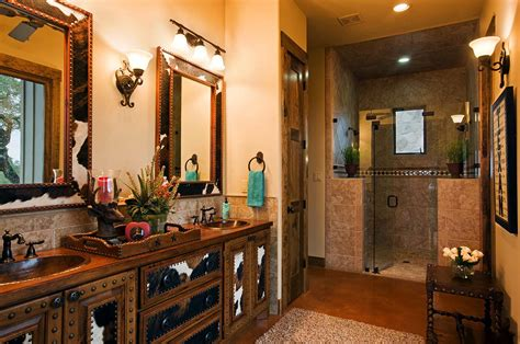 western bathroom designs rustic ranch house designed for family gatherings in