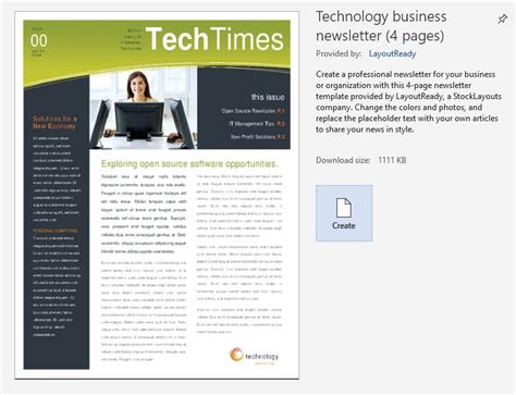 build company newsletters faster microsoft word