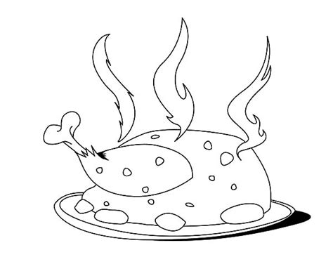 coloring pages fried chicken fried chicken coloring pages