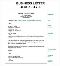 block business letter sle sle proper letter formats 8 free documents in pdf word