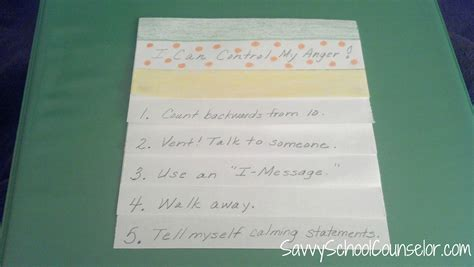 How To Make A Paper Flip Book - foldable savvy school counselor