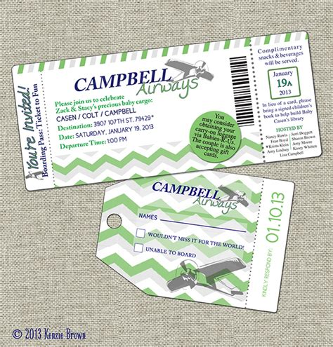 Boarding Pass Baby Shower Invitations by Baby Shower Boarding Pass Invitation Casen Cbell On