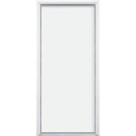 Flush Entry Door by Masonite Utility Flush Primed Steel Prehung Front Door