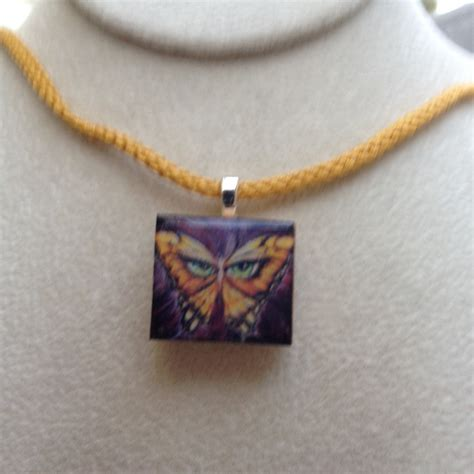 scrabble pendants scrabble tile pendant necklace artistic butterfly