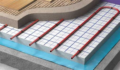 clypso system wet underfloor heating  concrete warmup