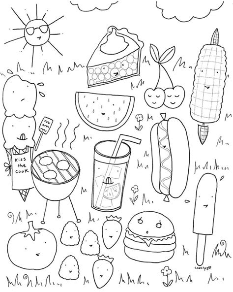 how to get food coloring get this food coloring pages picnic food hj2b7