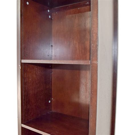 bookcase with mirror 42 off mirror and wood rotating bookcase storage