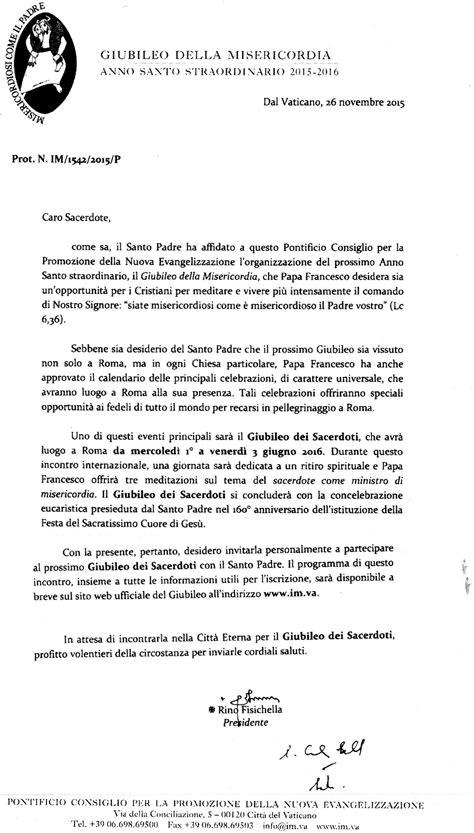 lettere di invito giubileo dei sacerdoti 1 3 giugno 2016 lettera invito