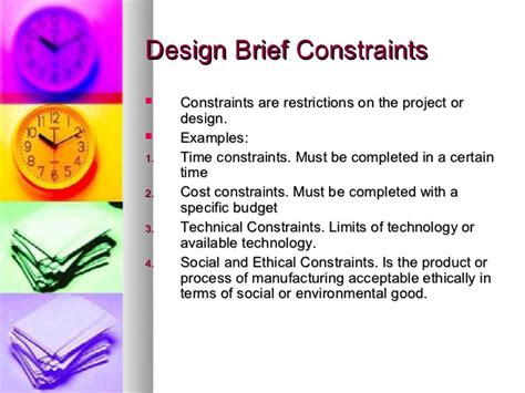 design brief for technology constraints exles images reverse search