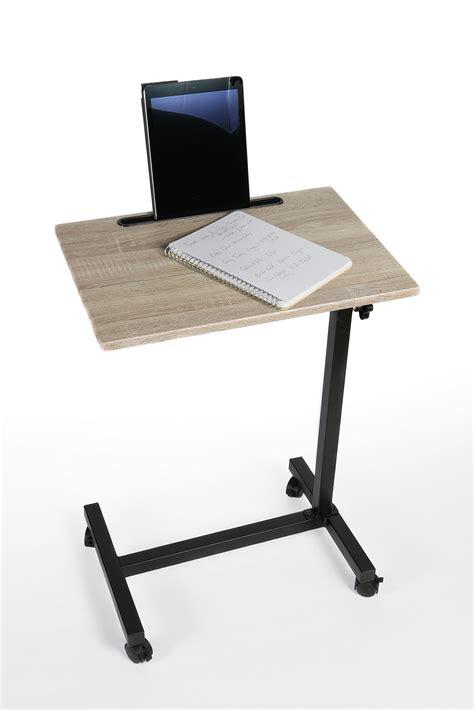 bedside overbed table senior rolling hospital bed tray laptop adjustable desk ebay