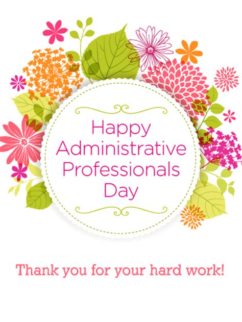 administrative day card template administrative professionals day cards 2019 happy