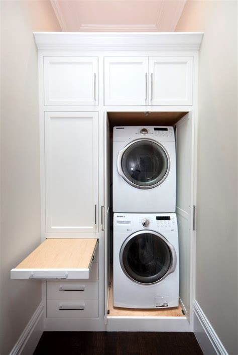 hidden laundry home and home owners on pinterest smart design for small laundry space home inspiration