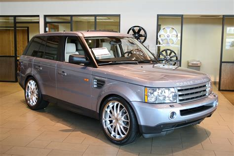 silver range rover 2008 range rover sport on 22 quot cec c863 silver