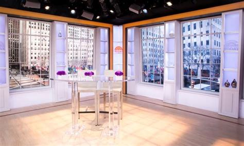 today show set q a lightening up today with a refined look