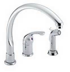 pin delta single lever waterfall kitchen faucet