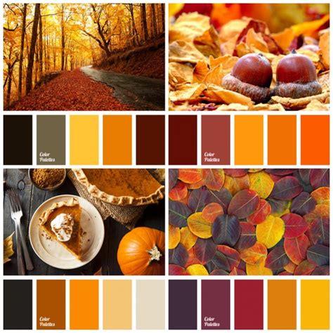 Palette Colori Marrone by La Palette Dei Colori Autunnali Organizzazione
