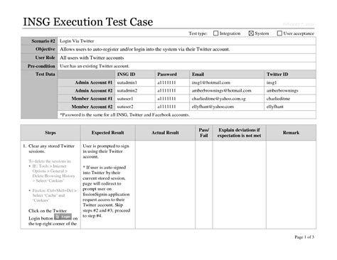 best photos of test case scenario template test scenario