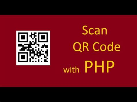 scan qr code  php youtube