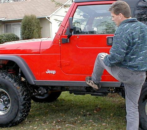 jeep step up jeep product review step on it rocker protection step